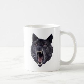 Lobo de la locura taza básica blanca