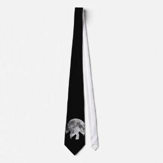 Lobo de la luna 3 corbata personalizada