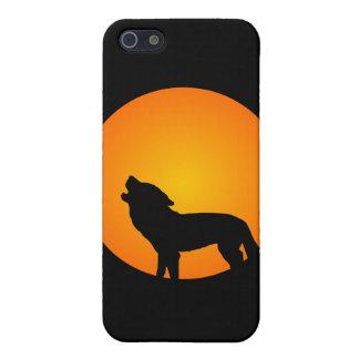 Lobo de la Luna Llena iPhone 5 Protector