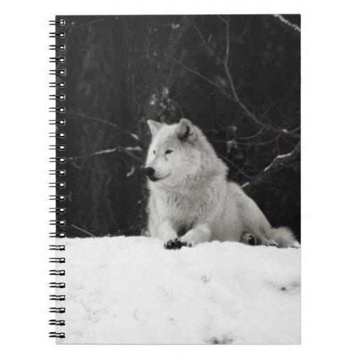 Lobo de la nieve libreta