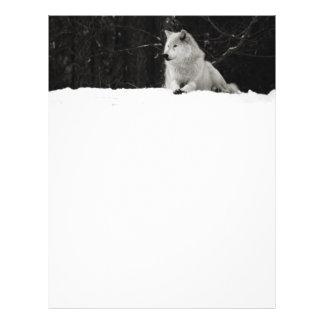 Lobo de la nieve membrete