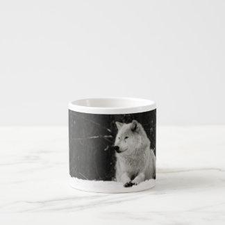 Lobo de la nieve tazita espresso