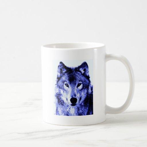 Lobo de la noche taza básica blanca