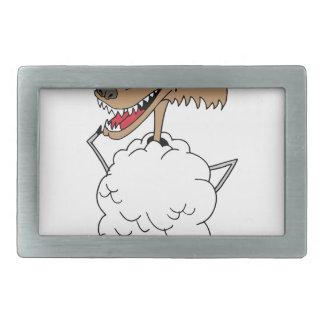 Lobo de la ropa de la oveja hebilla cinturón rectangular