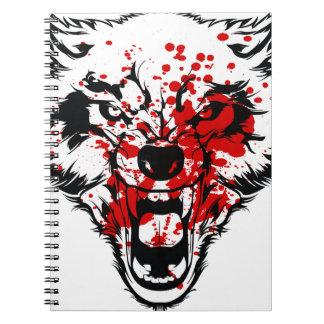 Lobo de la sangre spiral notebooks