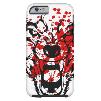Lobo de la sangre funda para iPhone 6 tough