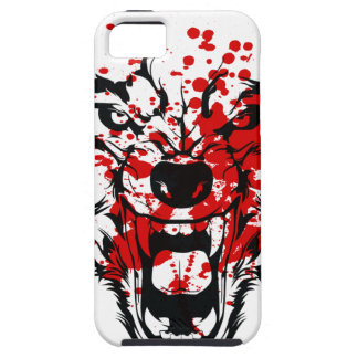 Lobo de la sangre iPhone 5 funda