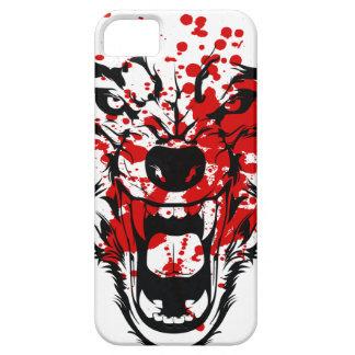Lobo de la sangre iPhone 5 fundas