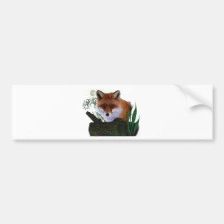 lobo de los animales etiqueta de parachoque