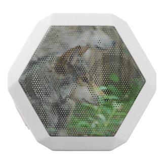Lobo de madera altavoces bluetooth blancos boombot REX