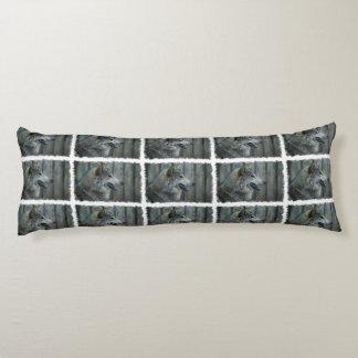 Lobo de madera cojin cama