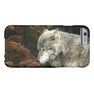 Lobo de madera contemplativo funda barely there iPhone 6