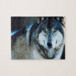 Lobo de madera puzzle con fotos