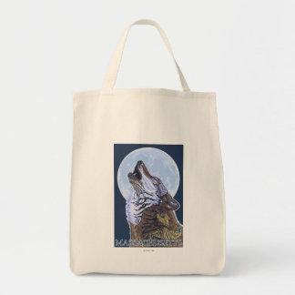 Lobo de MassachusettsHowling Bolsas Lienzo