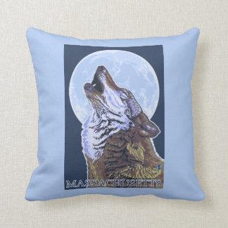 Lobo de MassachusettsHowling Cojines