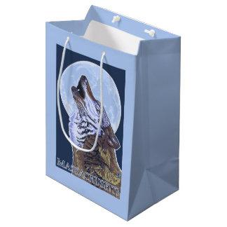 Lobo de MassachusettsHowling Bolsa De Regalo Mediana
