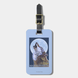 Lobo de MassachusettsHowling Etiquetas Maleta