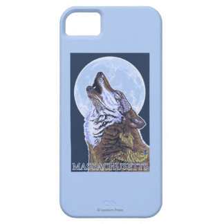 Lobo de MassachusettsHowling iPhone 5 Carcasas