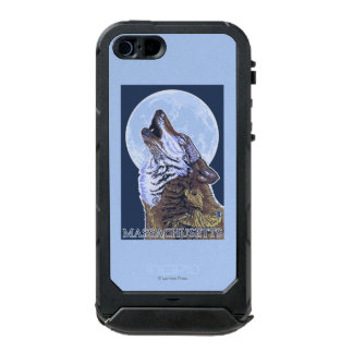Lobo de MassachusettsHowling Carcasa De Iphone 5 Incipio Atlas Id