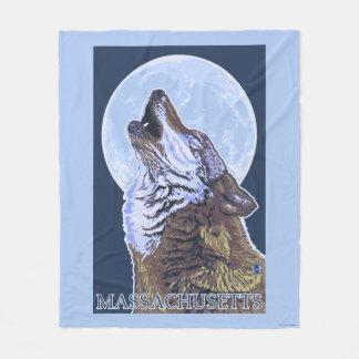 Lobo de MassachusettsHowling Manta De Forro Polar