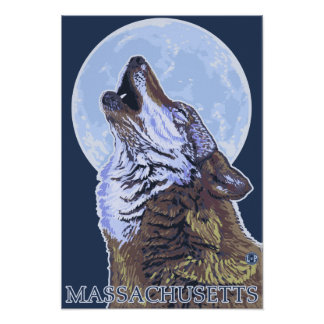 Lobo de MassachusettsHowling Impresiones