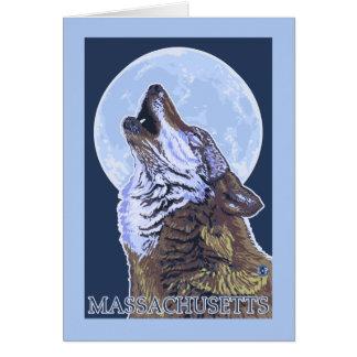 Lobo de MassachusettsHowling Tarjetas