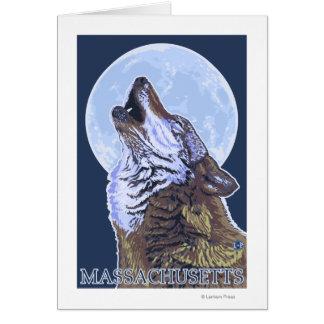 Lobo de MassachusettsHowling Tarjeta