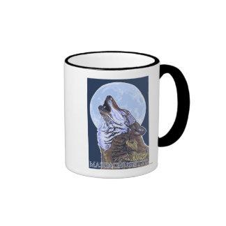 Lobo de MassachusettsHowling Taza De Café