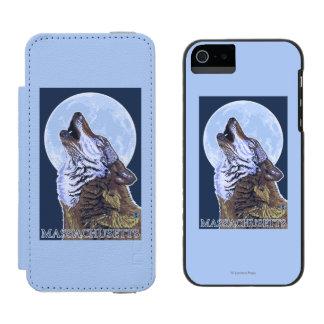 Lobo de MassachusettsHowling Funda Cartera Para iPhone 5 Watson