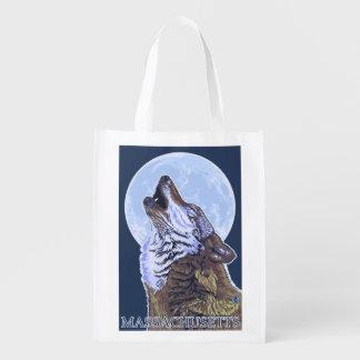 Lobo de MassachusettsHowling Bolsas Reutilizables