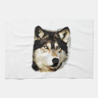 Lobo de motivación único toalla