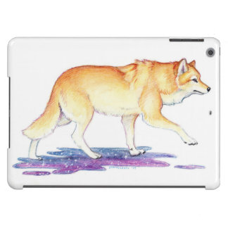Lobo de oro de la creación de la estrella de la funda para iPad air