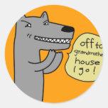 Lobo (de oro) etiqueta redonda