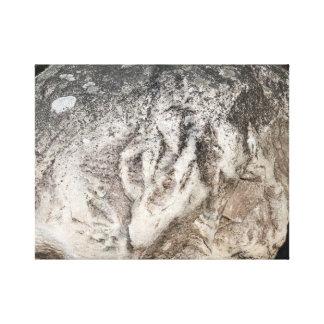 Lobo de piedra impresiones de lienzo