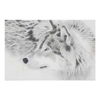 """Lobo de plata hermoso "" Póster"