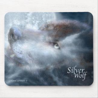 Lobo de plata Mousepad Alfombrilla De Ratones