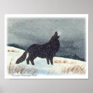 Lobo de Snowdusted Impresiones