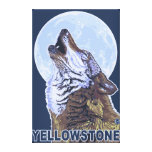 Lobo de YellowstoneHowling Impresiones De Lienzo