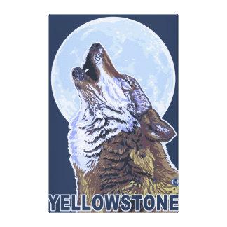 Lobo de YellowstoneHowling Impresiones En Lona Estiradas