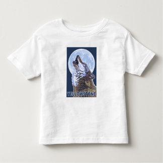 Lobo de YellowstoneHowling Playera