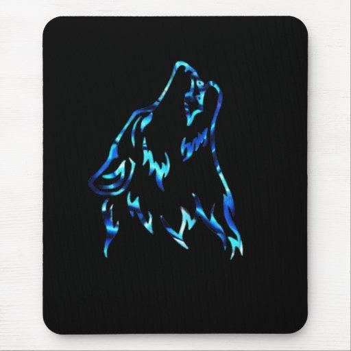 lobo del agua alfombrilla de ratón
