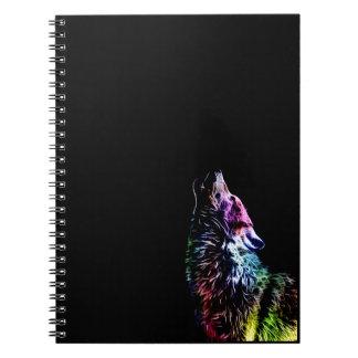 Lobo del arco iris del fractal notebook