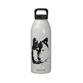 Lobo del arte pop botella de beber