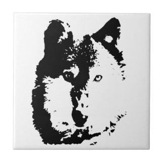 Lobo del arte pop azulejo cuadrado pequeño