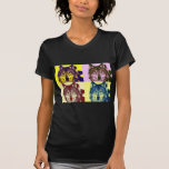 Lobo del arte pop camiseta