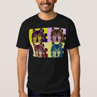 Lobo del arte pop remeras