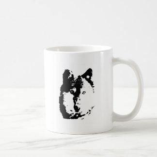 Lobo del arte pop taza