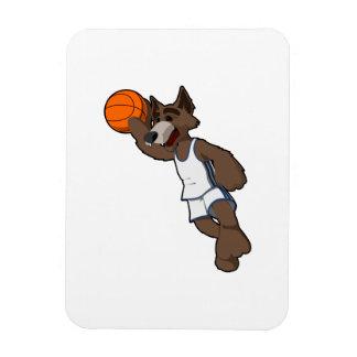 Lobo del baloncesto imán