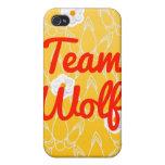 Lobo del equipo iPhone 4 carcasas