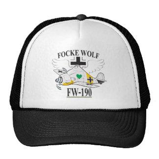 lobo del focke fw-190 gorros bordados